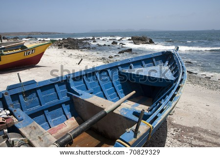Boats on the beach in dry dock