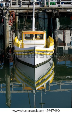 Boats Reflection - stock photo