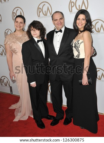 Bob Weinstein & family at the 2013 Producers Guild Awards at the Beverly Hilton Hotel. January 26, 2013  Los Angeles, CA Picture: Paul Smith