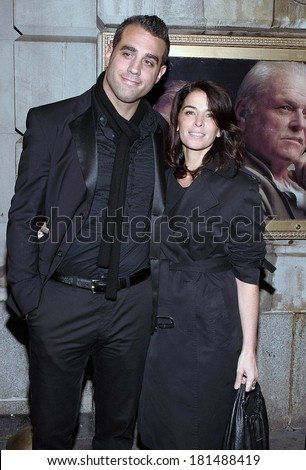 Bobby Cannavale, Annabella Sciorra at INHERIT THE WIND Opening Night on Broadway, Lyceum Theatre, New York, NY, April 12, 2007