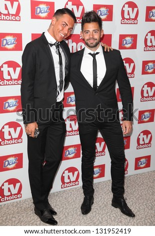 Bobby Cole Norris and Charlie King arriving for the 2012 TV Choice Awards, at the Dorchester Hotel, London. 10/09/2012. Picture by:  Alexandra Glen - stock photo