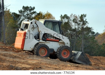 Bobcat at Work - stock photo