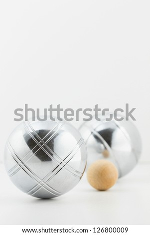 Bocce (Petanque) balls set - stock photo