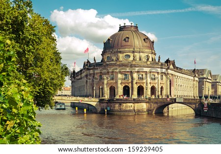 Bode-Museum and Museumsinsel in Berlin Mitte, Germany - stock photo