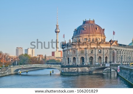 Bode Museum located on Museum Island, a UNESCO-designated World Heritage Site on Berlin, Germany - stock photo