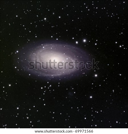 Bode's Galaxy, M81 in Ursa Major approximately 12 milion light years away. - stock photo