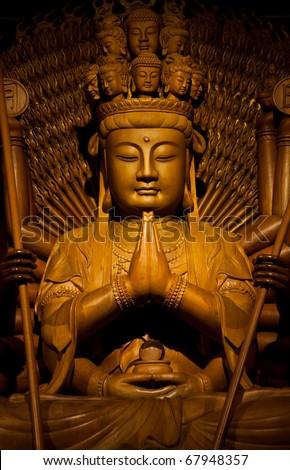 bodhisattva image of buddha chinese ancient art - stock photo