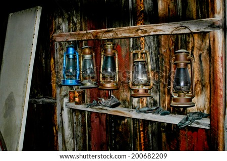 """Bodie, California.  A mining town from the late 1800's is now a ghost town.  It now remains in a state of """"arrested decay"""" and is maintained by the California State Parks System. - stock photo"""
