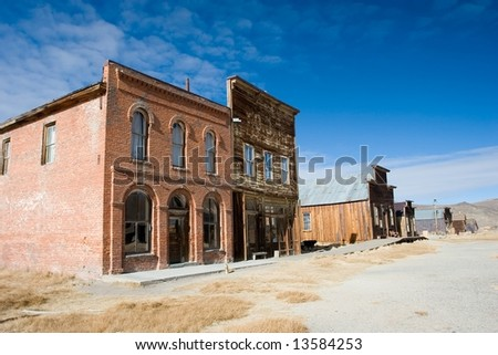 Bodie, California is a ghost town east of the Sierra Nevada mountain range in Mono County, California - stock photo