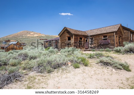 Bodie Ghost Town in California, USA. - stock photo