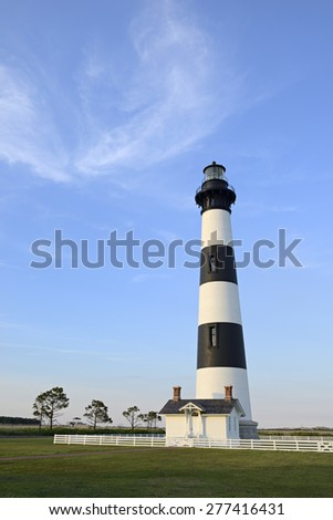 Bodie Lighthouse - Outer Banks, North Carolina - stock photo