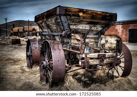 Bodie, State Historic Park in California is in a state of 'arrested decay' preserved as it was about 50 years ago when the last resident left. - stock photo