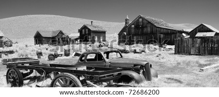 Bodie State Historic Park is a genuine California gold-mining ghost town. - stock photo