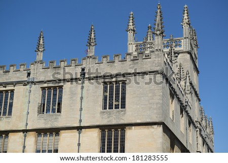 Bodleian Library in Oxford - stock photo