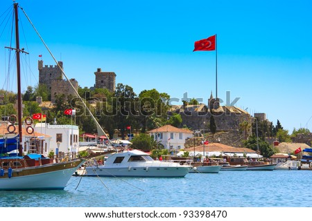 Bodrum castle, Turkey - stock photo