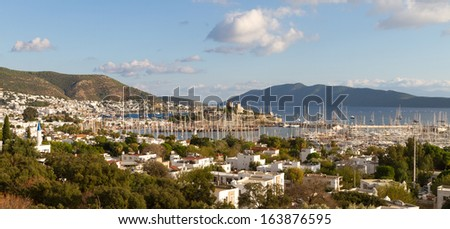 Bodrum Town and Castle in Turkey - stock photo