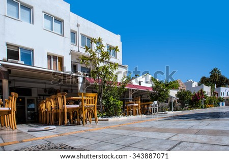 Bodrum town. Bodrum is one of the most popular summer destinations in Turkey - stock photo