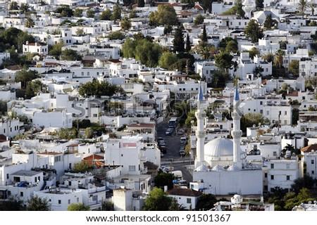 Bodrum town in Turkey - stock photo