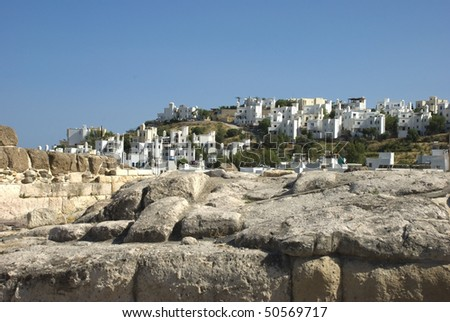 Bodrum. view to houses - stock photo