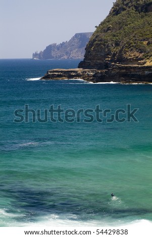 Body boarding but not a wave in sight - stock photo
