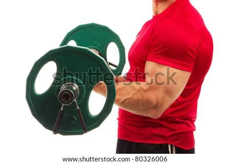 Body building - stock photo