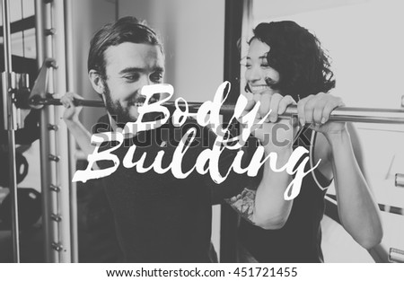 Body Building Be Positive Workout Concept - stock photo