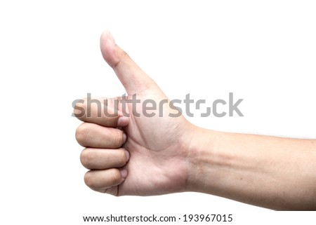 Body language, hand showing Good  gesture, isolated - stock photo