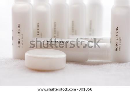 body lotion lime basil - stock photo