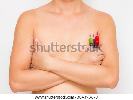 Body of medical on white background. - stock photo