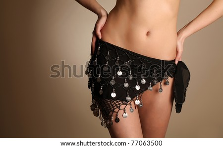 Body of the belly dancer - stock photo