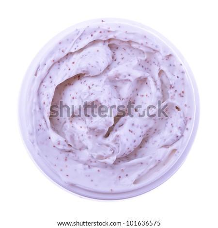body scrub isolated on white background - stock photo