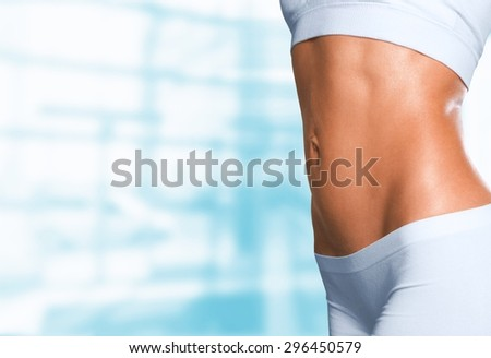 Body, Women, Abdomen. - stock photo