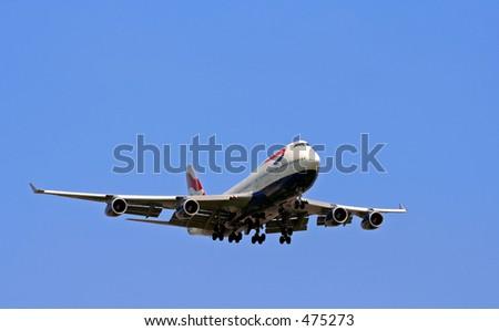 boeing 747 - stock photo