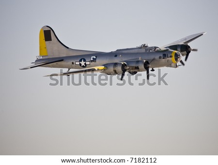 Boeing B-17 on display at Aviation Nation 2007. - stock photo