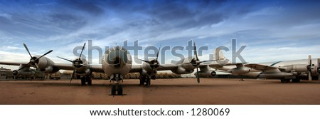 Boeing B29 Superfortress - stock photo