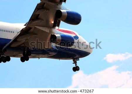 boeing 747 jumbo jet - stock photo