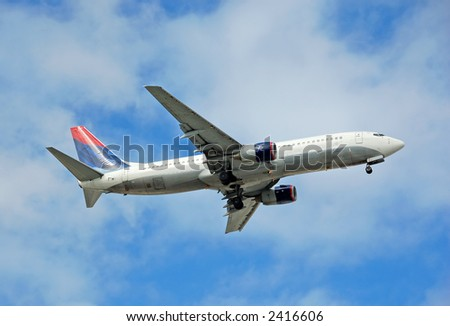 Boeing 767 wide body passenger jet - stock photo
