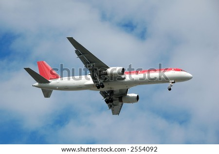 Boeing 767 widebody passenger jet - stock photo