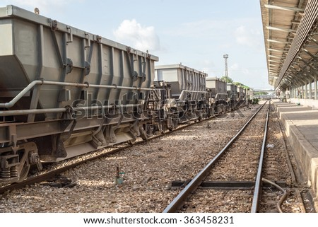 bogie Hopper Wagon of State railway - stock photo