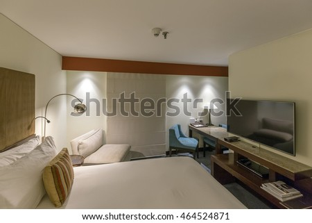 BOGOTA, COLOMBIA - OCTOBER 22, 2015: Interior of Sofitel Hotel, five star luxury hotel. Bogota is the capital and largest city of Colombia administered as the Capital District