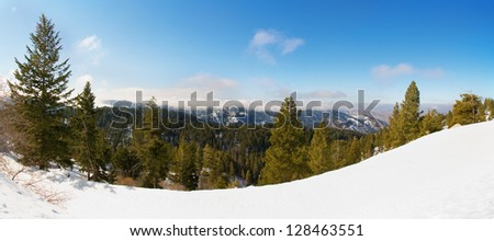 bogus basin ski area in boise, idaho - stock photo