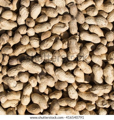 Boil peanut texture close up background. Peanuts in the shell - stock photo
