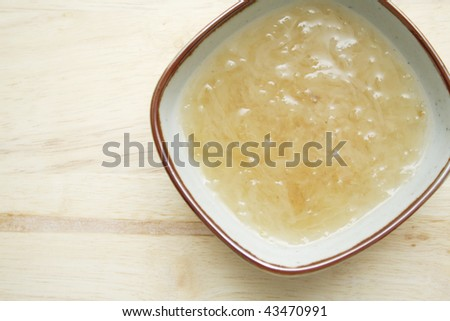 Boiled bird's nest - stock photo