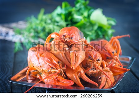 boiled cancer - stock photo