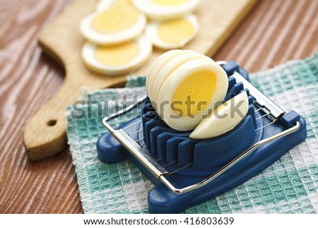 Boiled eggs - stock photo
