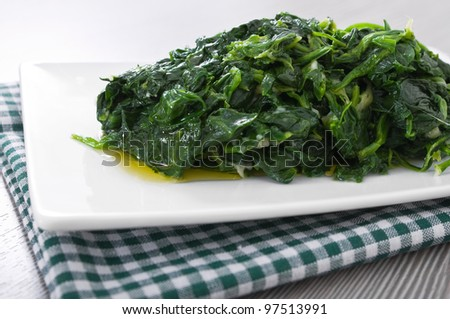 stock-photo-boiled-spinach-on-white-dish