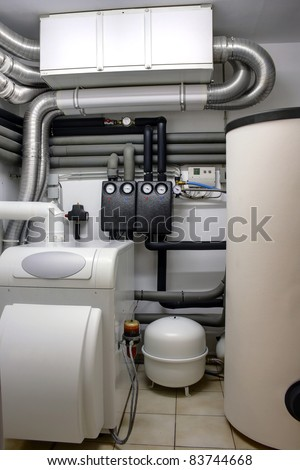 Boiler room - stock photo