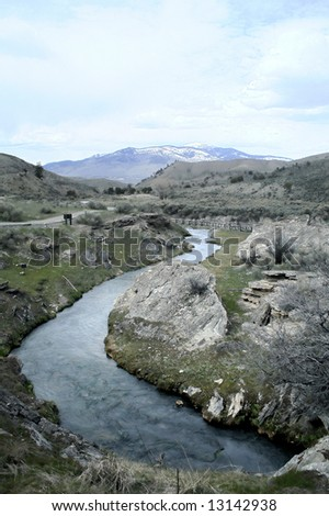 Boiling River - stock photo