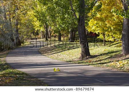 Boise greenbelt - stock photo