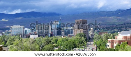 Boise, Idaho downtown skyline - stock photo